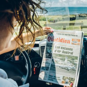 press in our vehicle with driver reunion island